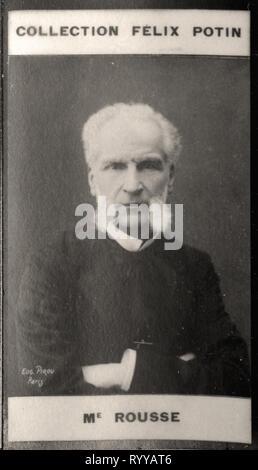 Retrato fotográfico de Rousse de colección Félix Potin, de principios del siglo XX. Imagen De Stock