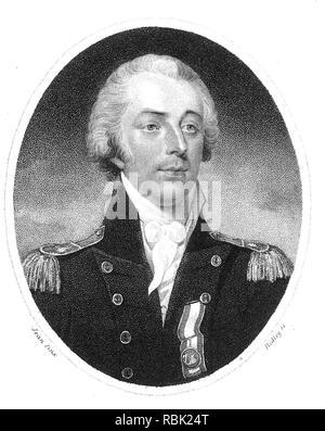 JAMES SAUMAREZ, 1er Barón de Saumarez (1757-1836) Royal Nay Almirante Imagen De Stock