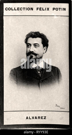 Retrato fotográfico de Alvarez desde la colección Félix Potin, de principios del siglo XX. Imagen De Stock