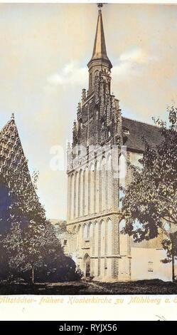 Klosterkirche St. Maria (Mühlberg an der Elbe) 1899, Brandenburgo, Mühlberg, Altstädter Kirche Imagen De Stock