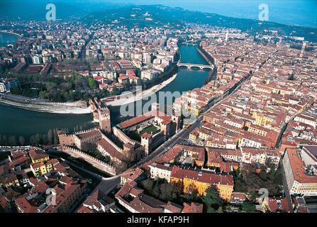 Veneto Verona ver con castelvecchio Imagen De Stock