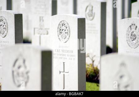 Fotografía de las tumbas de guerra primera guerra mundial recuerdo piedras muertos Imagen De Stock