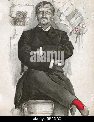 GEORGES COURTELINE (1858-1929), novelista y dramaturgo francés Imagen De Stock
