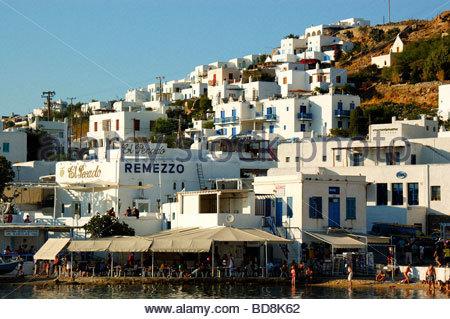 Edificios en Mykonos, Grecia Imagen De Stock