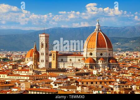 La Basílica de Santa Maria del Fiore, Florencia, Toscana, Italia Imagen De Stock