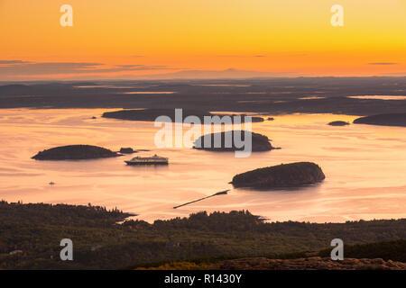 Amanecer en el Parque Nacional de Acadia Imagen De Stock