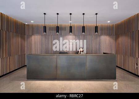 Recepción. 8 Bloomsbury, Londres, Reino Unido. Arquitecto: Buckley gris Yeoman, 2017. Imagen De Stock