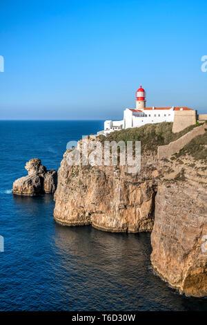 El Cabo de San Vicente, o Cabo de Sao Vicente, Vila do Bispo, Algarve, Portugal Imagen De Stock