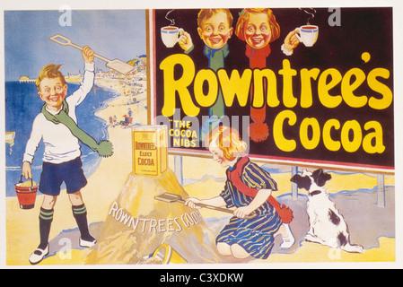 Rowntree's Cocoa, por anónimo. Inglaterra, 1957. Imagen De Stock