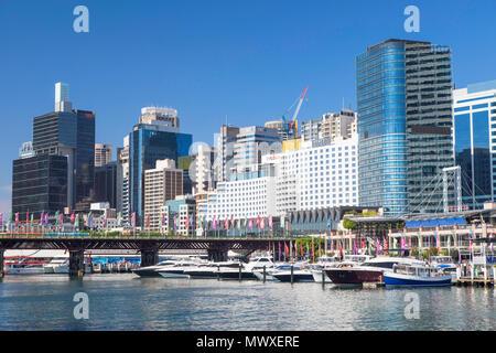 En Darling Harbour, Sydney, New South Wales, Australia, el Pacífico Imagen De Stock