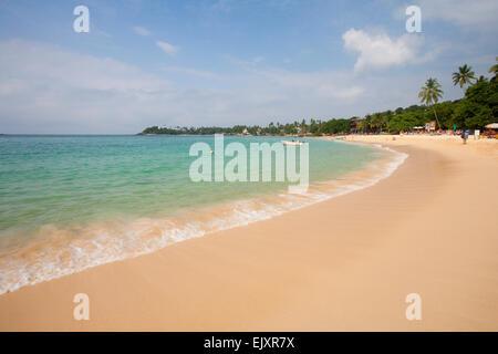 Desierta Unawatuna Beach Imagen De Stock