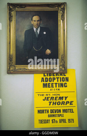 Jeremy Thorpe MP 1979 Devon 1970 UK HOMER SYKES Imagen De Stock