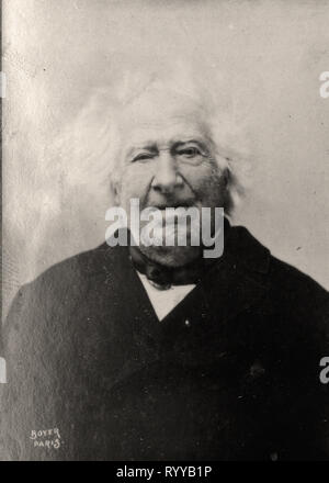 Retrato fotográfico de Chevreul desde la colección Félix Potin, de principios del siglo XX. Imagen De Stock