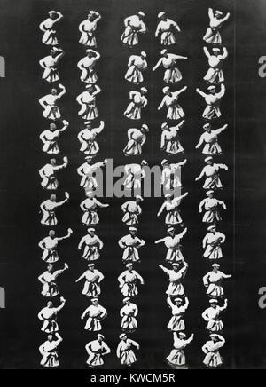 Escenas de 'Monkeyshines movimiento', la primera película rodada en los Estados Unidos. Edison fue Imagen De Stock