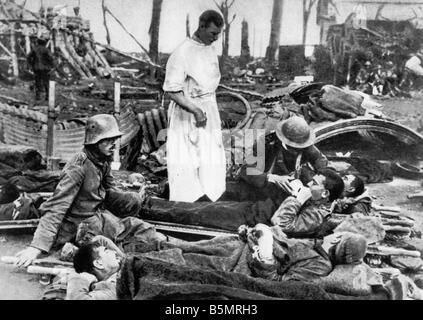 9 1917 9 20 A1 batalla de Flandes Ger soldados heridos de guerra mundial 1 1914 18 frente occidental batalla de Imagen De Stock