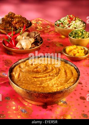 INDIAN DAAL PLATO Imagen De Stock