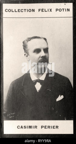 Retrato fotográfico de Casimir Prier Colección de Félix Potin, de principios del siglo XX. Imagen De Stock