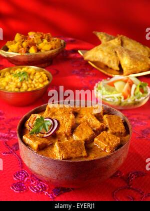 SHAHI PANEER curry indio Imagen De Stock