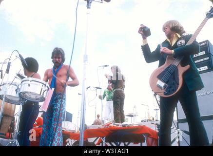 LOS ANGELES, CA - 07 de marzo: Chicago en conciertos Circa 1974 en diversos lugares de Los Ángeles, California. Imagen De Stock