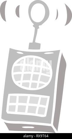 Doodle de dibujos animados dibujados a mano de un walkie talkie Imagen De Stock