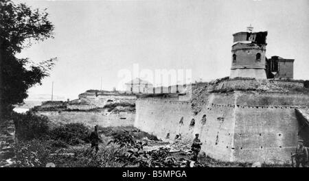 9 1915 10 9 A1 E Citadel en Belgrado 1915 foto de postal de la I Guerra Mundial 1914 18 segunda campaña serbia Imagen De Stock