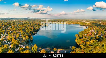 Vista aérea del lago Parsippany, Imagen De Stock