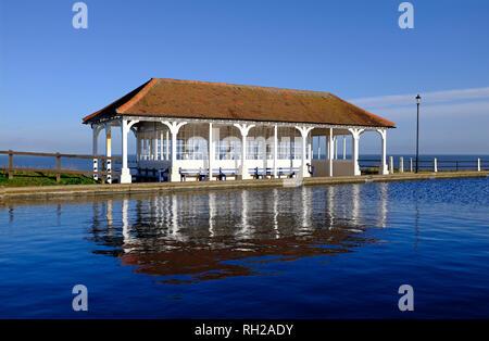 Arquitectura balnearia, sheringham, North Norfolk, Inglaterra Imagen De Stock