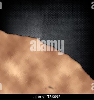 Resumen Antecedentes metálico con textura grunge en metal oro rosa Imagen De Stock