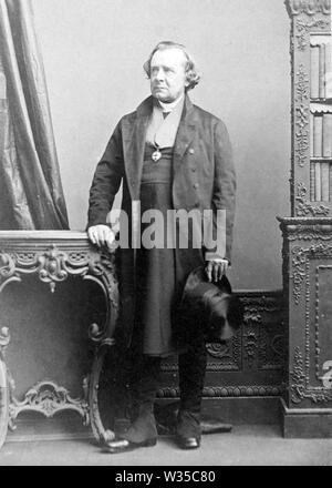 SAMUEL WILBERFORCE (1805-1873) obispo de la Iglesia de Inglaterra Inglés y adversario de la teoría de la evolución de Darwin Imagen De Stock