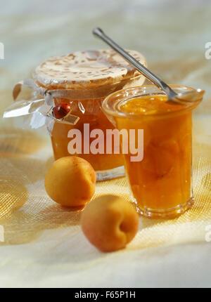 mermelada de albaricoque Imagen De Stock