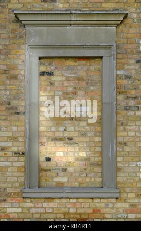 Tapiadas en la ventana Característica de estilo arquitectónico clásico Imagen De Stock