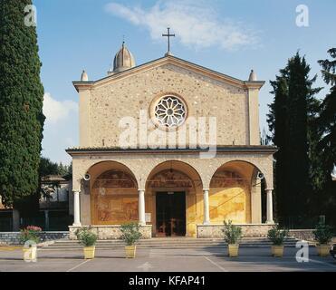 Peschiera del Garda Veneto santuario de Nuestra Señora ash Imagen De Stock