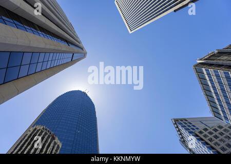 La arquitectura moderna, el Centro, San Francisco, California, EE.UU. Imagen De Stock
