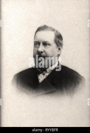 Retrato fotográfico de Louis Ier Roi De Portugal desde la colección Félix Potin, de principios del siglo XX. Imagen De Stock
