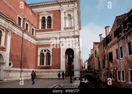 Scuola Grande di San Rocco es un museo de arte de Dorsoduro, en Venecia Imagen De Stock