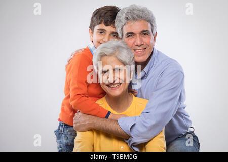 Retrato de dos generaciones de la familia Imagen De Stock
