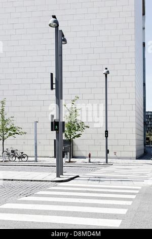 La arquitectura urbana, Ørestad, en la isla de Amager, Copenhague, Dinamarca Imagen De Stock