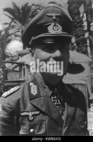 General Erwin Rommel, comandante alemán en Francia y el Norte de África durante la Segunda Guerra Mundial. Imagen De Stock