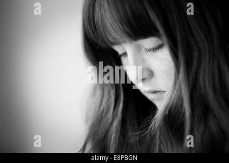 Retrato de una adolescente (13-15) Imagen De Stock