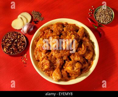 CURRY de pollo tikka indio Imagen De Stock