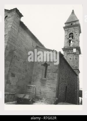 Toscana, Grosseto, Seggiano, Iglesia Parroquial Imagen De Stock