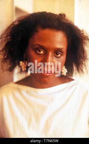 PHYLLIS Nelson (1950-1998) cantante pop americana sobre 1984 Imagen De Stock