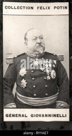 Retrato fotográfico de Giovanninelli Colección de Félix Potin, de principios del siglo XX. Imagen De Stock
