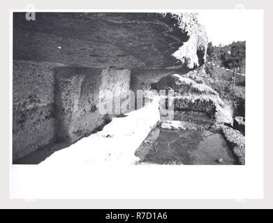 Viterbo Lacio Ischia di Castro necrópolis, esta es mi Italia, el país de la historia visual, Antigüedades Opiniones de necrópolis etruscas, algunos de los cuales muestran la tumba de Semidadd? Imagen De Stock