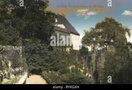 Schloss Siebeneichen 1915, Meißen, Schloß Siebeneichen, Alemania Imagen De Stock