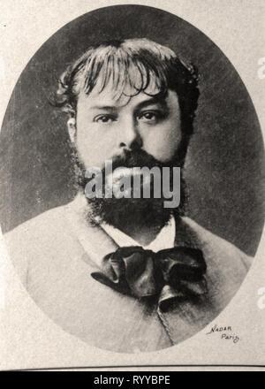 Retrato fotográfico de Poilpot Colección de Félix Potin, de principios del siglo XX. Imagen De Stock