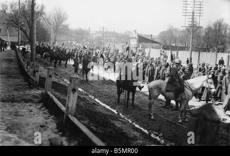 9 1916 3 18 A1 E Batalla del Lago Narocz1916 Russ prisiones Primera Guerra Mundial Frente Oriental la derrota de Imagen De Stock