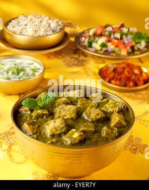 PALAK PANEER indio Curry Imagen De Stock
