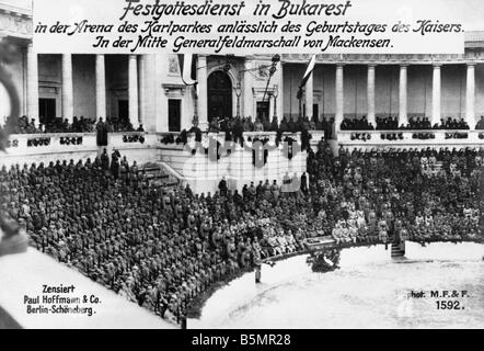 9 1917 1 27 A1 servicio especial en Bucharest fotos Guerra Mundial 1 Rumania servicio especial en Bucarest el 27 Imagen De Stock