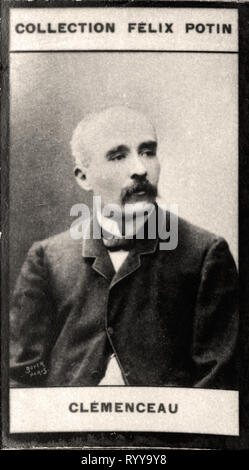 Retrato fotográfico de Clmenceau Colección de Félix Potin, de principios del siglo XX. Imagen De Stock